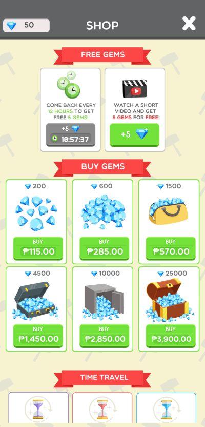 how to spend diamonds in idle landmark tycoon