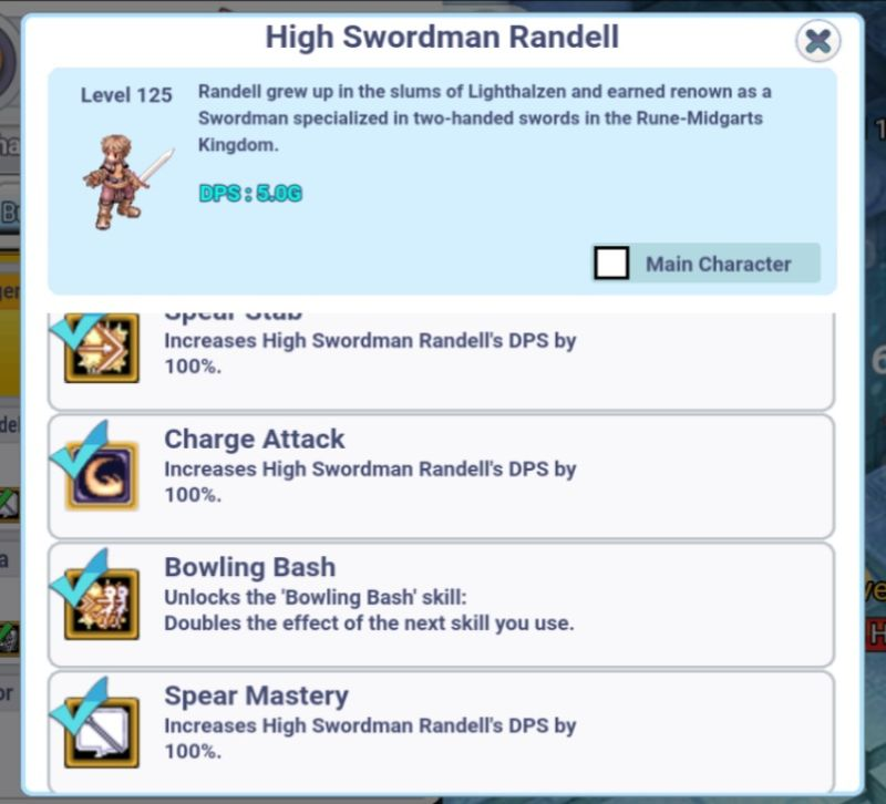 ro click h5 character skills