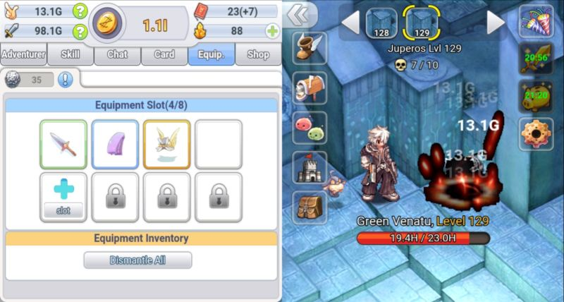 how to gain equipment in ro click h5