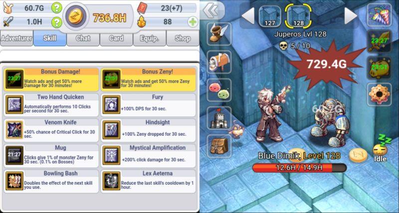 ro click h5 main skills