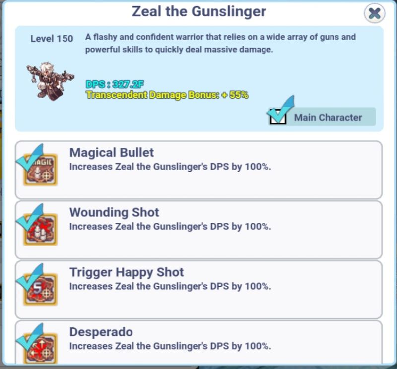 ro click h5 transcendent damage bonus