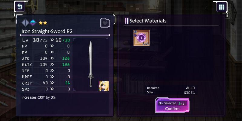 sword art online alicization rising steel gear