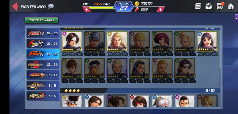 the king of fighters allstar fighter info
