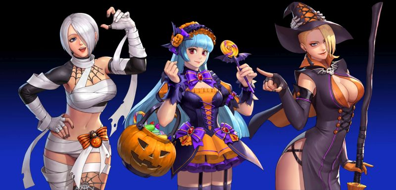 the king of fighters allstar halloween team