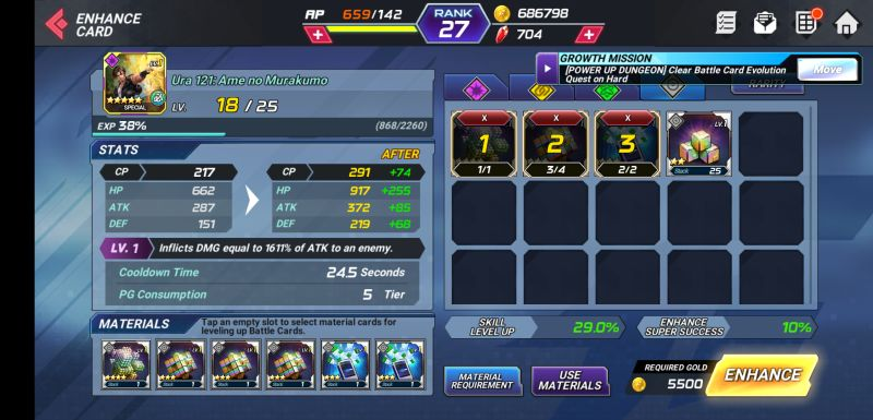 how to evolve battle cards in the king of fighters allstar