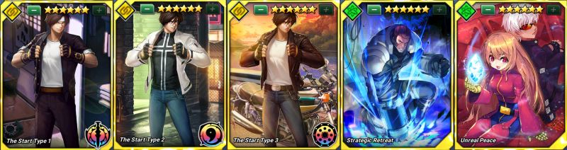 the king of fighters allstar best battle card combinations