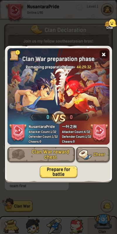 ulala idle adventure clan war preparation
