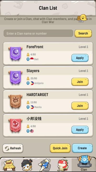 how to join a clan in ulala idle adventure