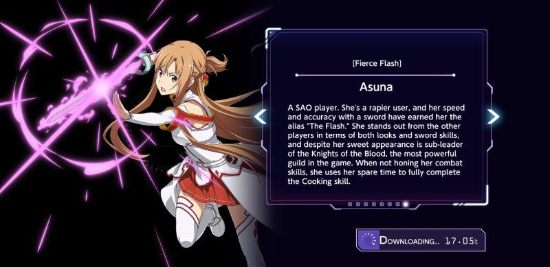 asuna sword art online alicization rising steel