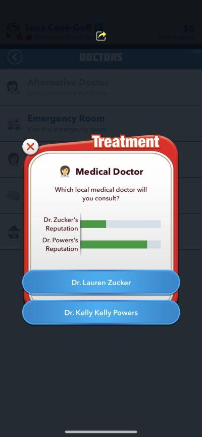 doctor's reputation in bitlife