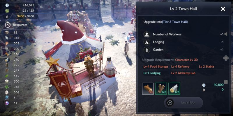 how to upgrade town hall in black desert mobile