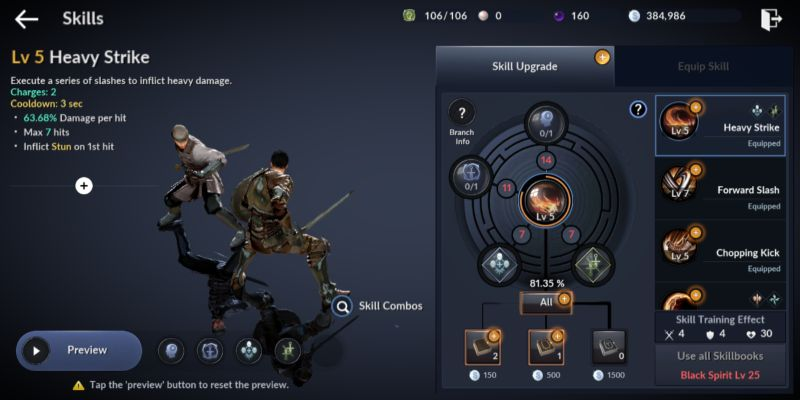 how to upgrade equipment and skills fast in black desert mobile