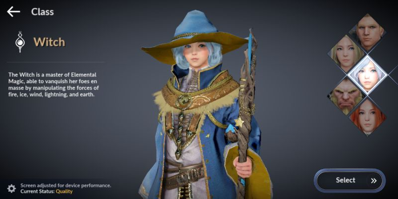 black desert mobile witch class