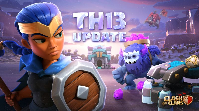 clash of clans town hall 13 update