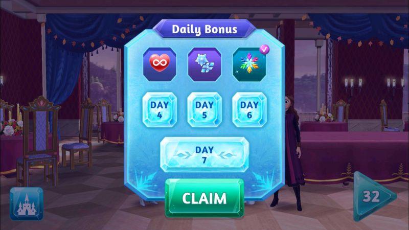 how to get more rewards in disney frozen adventures