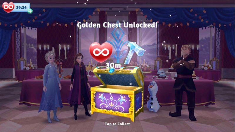 disney frozen adventures golden chest