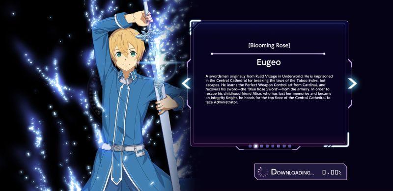 eugeo sword art online alicization rising steel