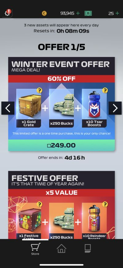 f1 manager event offer