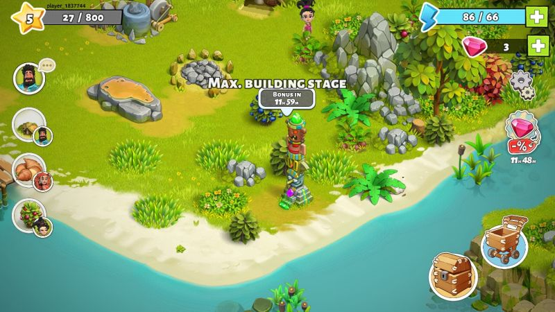 how to decorate the village in family island