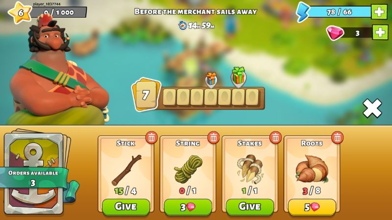 how to trade with the merchant in family island