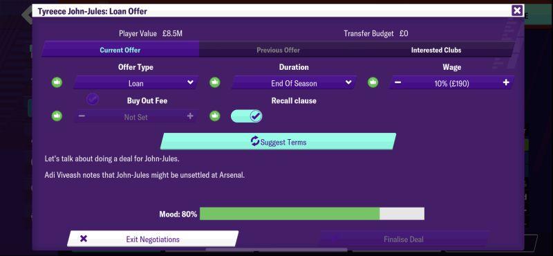 football manager 2020 mobile loan offer