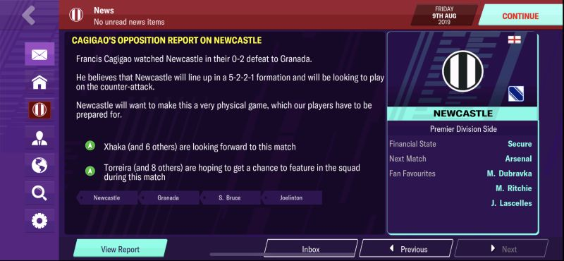 football manager 2020 mobile news