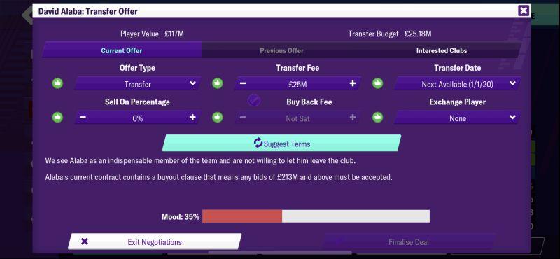 football manager 2020 mobile transfer offer