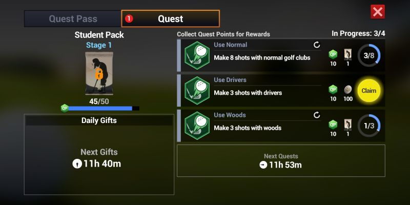 how to get more rewards in golf king world tour