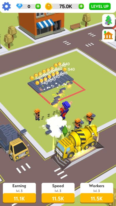 how to hire new workers in idle construction 3d