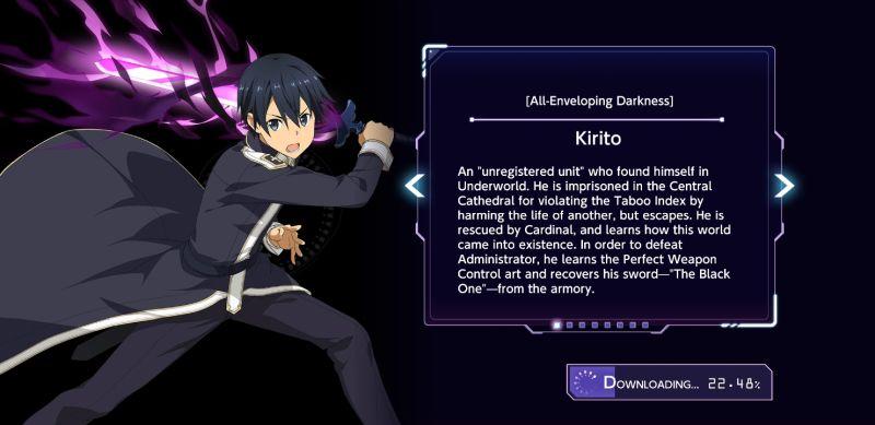 kirito sword art online alicization rising steel