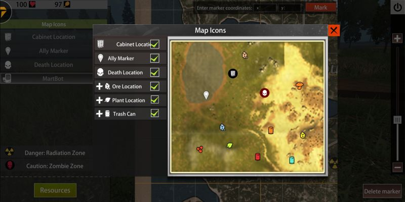 how to use the map in last day rules survival