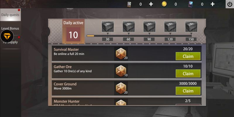how to get more rewards in last day rules survival
