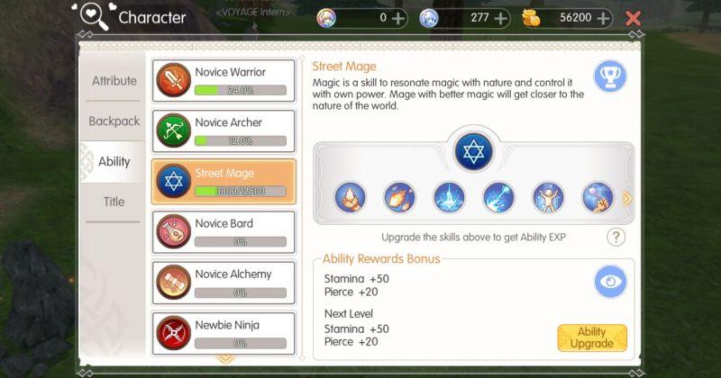 mabinogi fantasy life ability upgrades