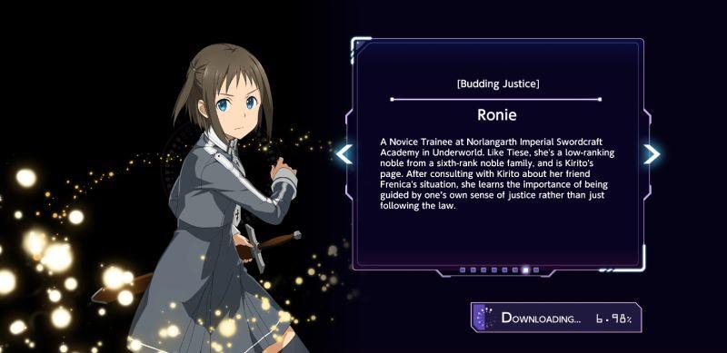ronie sword art online alicization rising steel