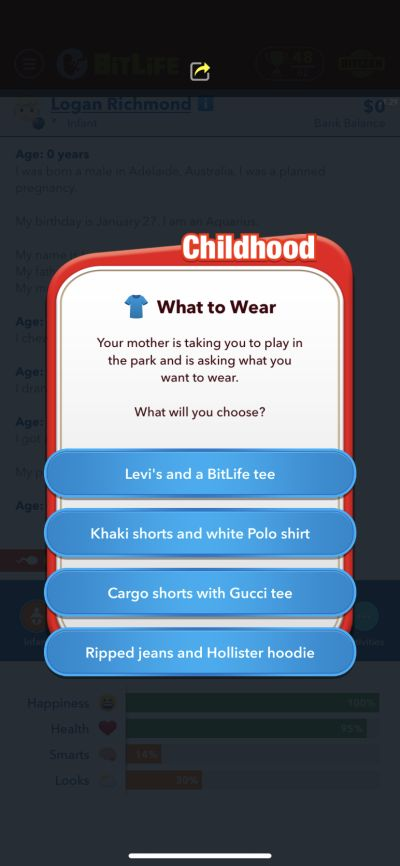 bitlife childhood features