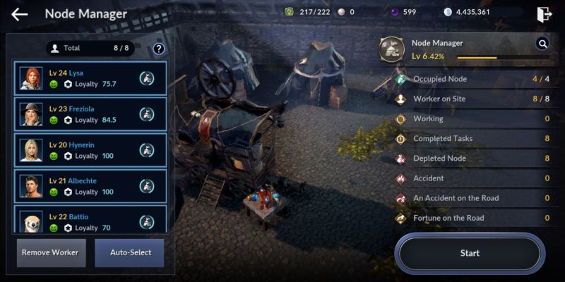how to allocate workers in black desert mobile node manager