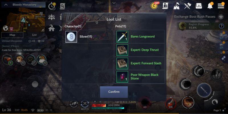 black desert mobile loot list