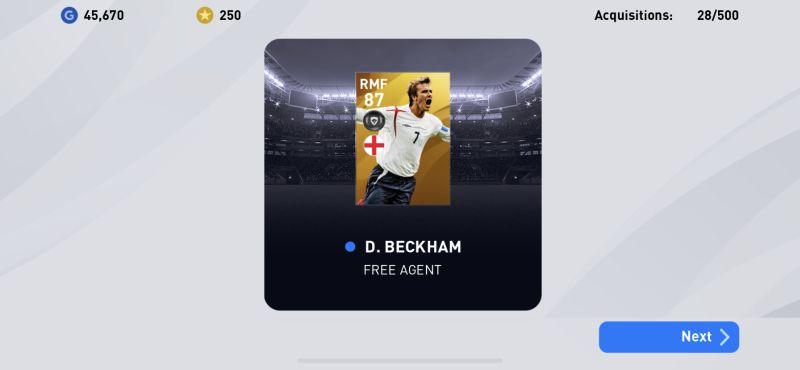 efootball pes 2020 free agent