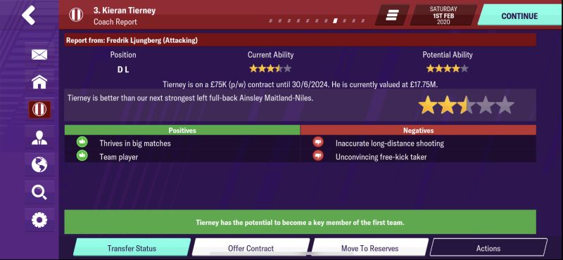 football manager 2020 mobile coach report