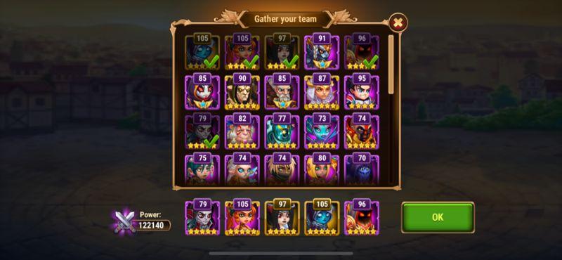 hero wars campaign mode team