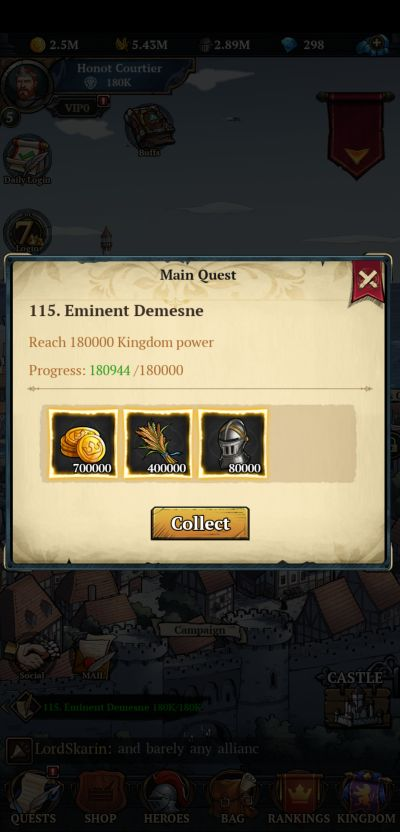 king's throne game of lust main quest
