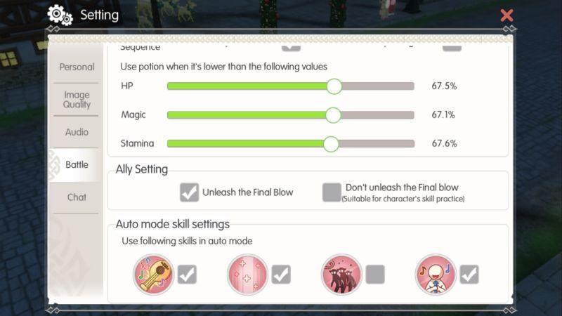 mabinogi fantasy life battle options