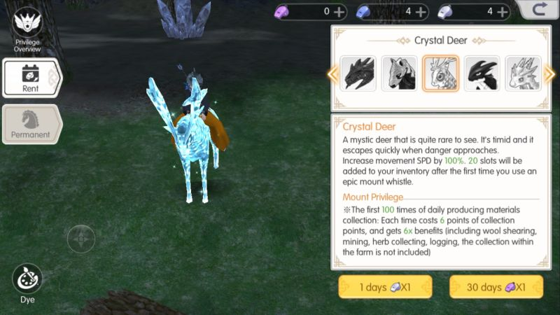 mabinogi fantasy life crystal deer mount