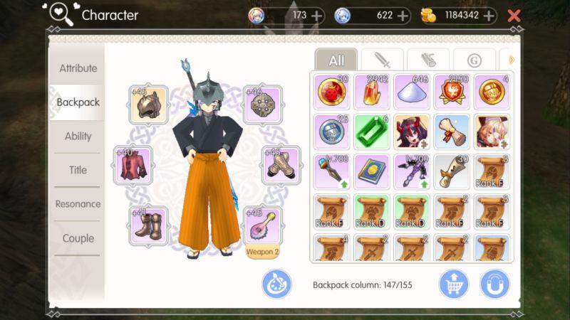 mabinogi fantasy life inventory