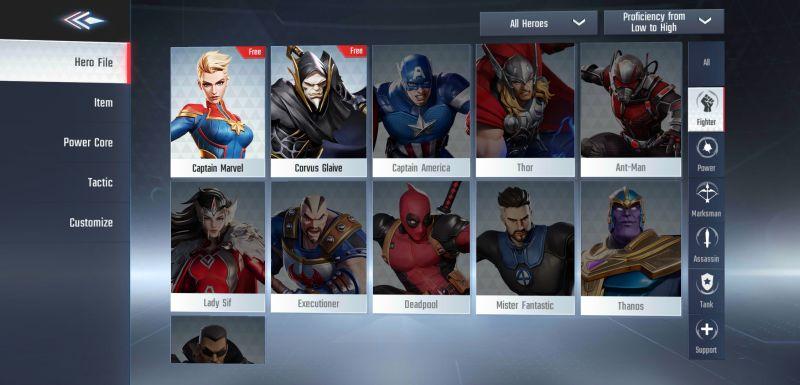 marvel super war fighter class