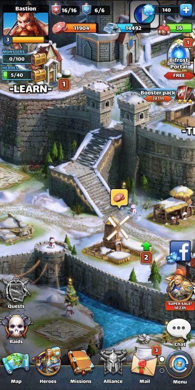 mythwars & puzzles base management