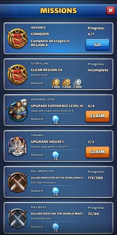 mythwars & puzzles missions