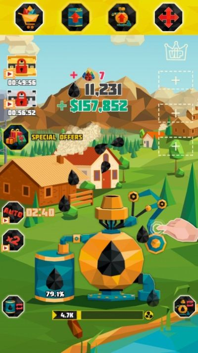 how to collect more oil in oil tycoon gas idle factory
