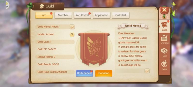 how to join a guild in astral fable
