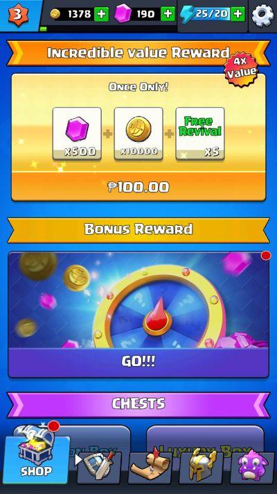 byebye monster bonus reward